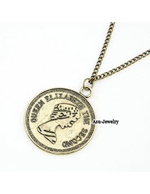 Special Bronze Coin Pendant Alloy Chains
