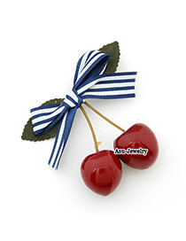 Traditiona Red Cute Sweet Fashion Cherry Bow Tie  Hair clip hair claw