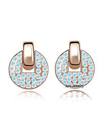 Health Blue Earrings Alloy Crystal Earrings