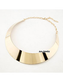 Winter Gold Color Shiny Side Alloy Korean Necklaces