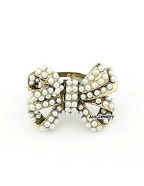 Claddagh Gold Color Bow Alloy Korean Rings