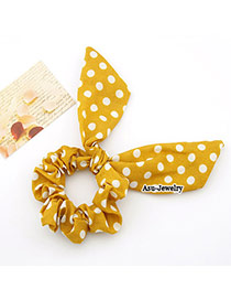 Hemp Yellow Rabbit Ear Cloth Hair band hair hoop