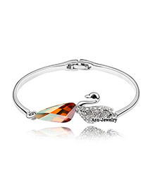 Define Amber Bangle Alloy Crystal Bracelets