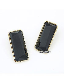 Funky Black Rectangle Shape Charm Design