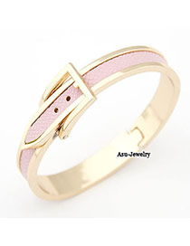 Funky Pink Belt Alloy Fashion Bangles