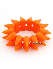 Eco Orange Rivet Rosin Fashion Bangles