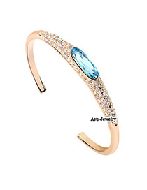 Bridesmaid Blue Austrian Crystals Alloy Fashion Bangles