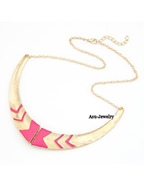 Cargo Plum Red Fake Collar Alloy Bib Necklaces