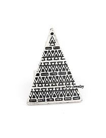 Handcrafte Silver Color Triangle Bead Korean Rings