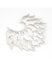 Bohemian Silver Color Leaf Alloy Korean Brooches
