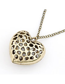 Legal Bronze Hollow Out Heart Pendant Alloy Chains