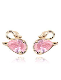 Mobile Pink Earrings Alloy Crystal Earrings