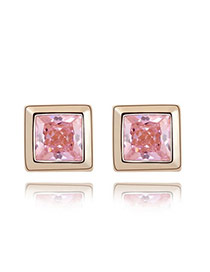 Sample Pink Earrings Alloy Crystal Earrings
