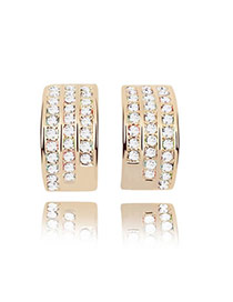 Seamless White Earrings Alloy Crystal Earrings