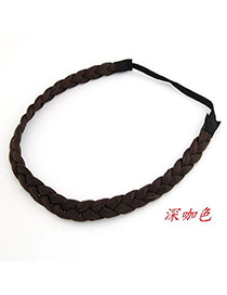 Special Dark Coffee Braid  Hair band hair hoop
