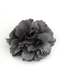 Athletic light Black Flower Design Alloy Hair clip hair claw