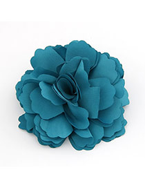 Slacks Blue Flower Design Cloth Hair clip hair claw