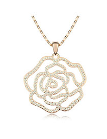 Affinity Gloss White Champagne Champagne Rose Design Crystal Crystal Necklaces