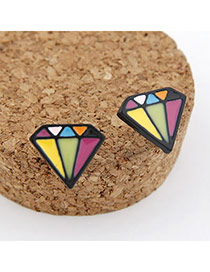 Pendant Multicolour Diamond Shape