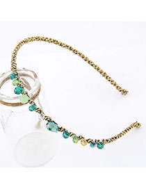 2013 Multicolour Handmade Irregular Cz Diamond Alloy Hair band hair hoop