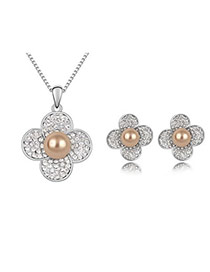 Square Bronze Set-Colorful Ball Alloy Crystal Sets