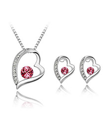 Infinity Plum Red Set-All The Way Alloy Crystal Sets
