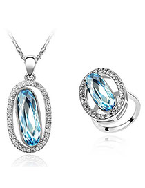 Homecoming Blue Set-Eternity Alloy Crystal Sets
