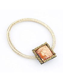 Smart Orange Solid Square Shape Alloy Hair band hair hoop
