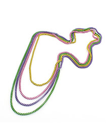 Athena Multicolour Four Layer Design Alloy Bib Necklaces