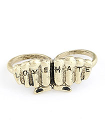 Personaliz Gold Color Buterfly Alloy Korean Rings