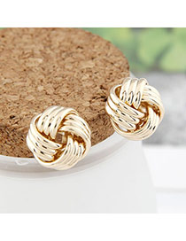 Butterfly Gold Color Weave Design Alloy Stud Earrings