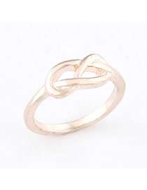 Embossed Gold Color Hollow Out 8 Alloy Korean Rings