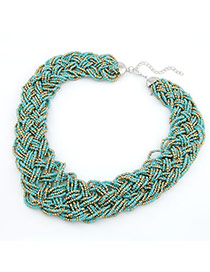 Free Multicolour Handmade Bead Design Alloy Bib Necklaces