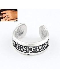 Mexican Silver Color Carve Alloy Korean Rings