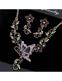 Waltons Multicolour Butterfly Flower (Jewelry Set)