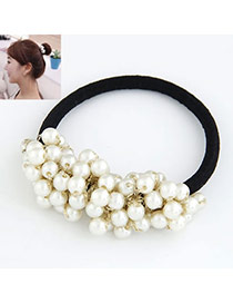 Venetian White Sweet Ball Shape Consist Pearl Hair band hair hoop