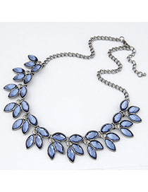 blue luxury leaves design