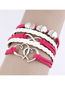 Maternity Plum Red Heart Shape Design Alloy Korean Fashion Bracelet