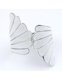 Turkish Silver Color Punk Wing Design Alloy Fashion Bangles