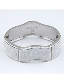 Fall Silver Color Small Wave Shape Design Alloy Fashion Bangles