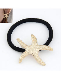 Layered Gold Color Sea Star Shape