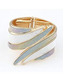Religious Mix Color Angle Wing Shape Design Alloy Fashion Bangles