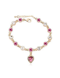 Misses Plum Red Love Of My Life Theme Design Austrian Crystal Crystal Bracelets