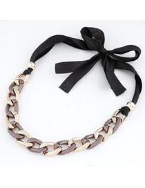Coral Brown Exaggerated Thick Chain Simple Design Alloy Chains