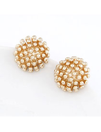 Native Gold Color Personality Elegant Rivet Design