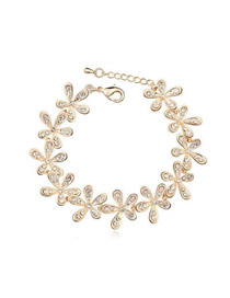 Harry Gold Color Exquisite Flower Style Austrian Crystal Crystal Bracelets