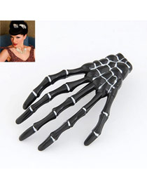 Quality Black Skeleton Hands Design Alloy Korean Brooches