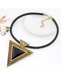 Plus Size Gold Color Vintage Triangle Shape Design