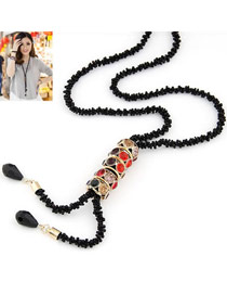 Fancy Multicolor Shining Lucky Beads Design Alloy Beaded Necklaces