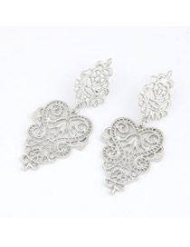 Statement Silver Color Elegant Hollow Design
